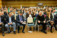 Roma, 29 Marzo 2015<br /> Convention di Forza Italia: Roma l'Italia e l'Europa che vogliamo. La sedia vuota vicino a Domenico Gramazio ex senatore di Forza Italia.<br /> Rome, March 29, 2015<br /> Convention  of Forza Italy: Rome the Italy and Europe that we want. The empty chair near Domenico Gramazio former senator of Forza Italy.