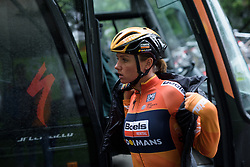 Chantal Blaak prepares for Stage 4 of the OVO Energy Women's Tour - a 123 km road race, starting and finishing in Chesterfield on June 10, 2017, in Derbyshire, United Kingdom. (Photo by Sean Robinson/Velofocus.com)