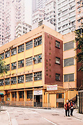 City view in Sheung Wan district