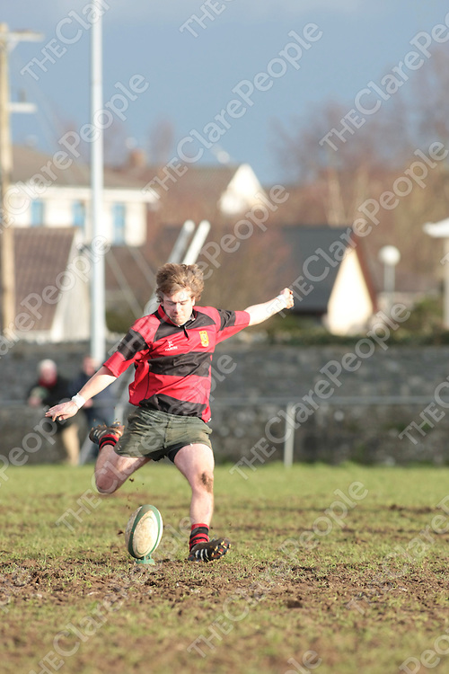 Ennis RFC Dylan O'Mahony Tynan in action...<br /> Picture Credit  Brian Gavin Press 22