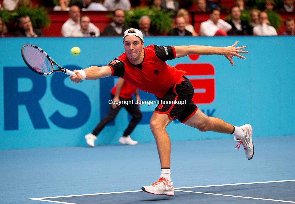 Erste Bank Open 2014 ,HerrenTennis Turnier, ATP<br /> Tournament, Wien,Oesterreich, Jan-Lennard Struff (GER),<br /> Einzelbild,Aktion,Ganzkoerper,Querformat