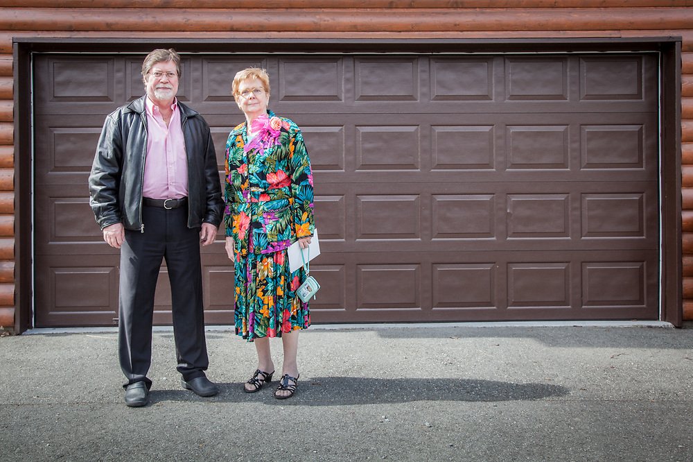 Neighbor Sue Lindford and her son, Chris, on Mother's Day in Anchorage's South Addition Neighborhood.