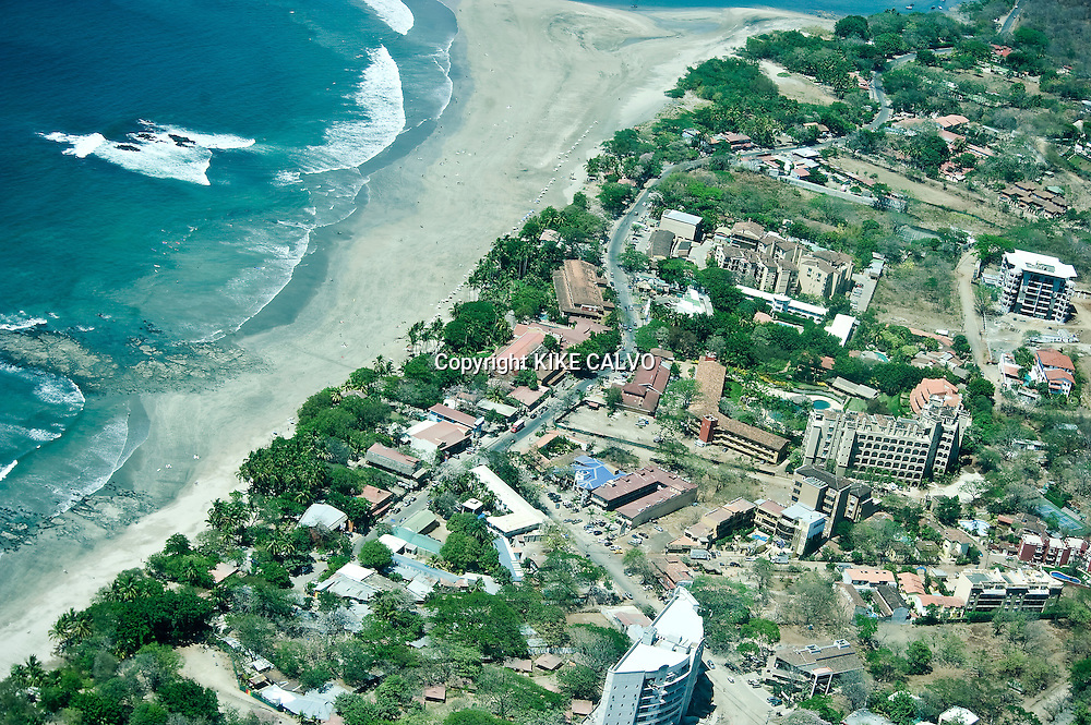 "Aerial view of Tamarindo.This is the beach town first made famous by ""Endless Summer,"" the 1966 film that drew international surfers, who in turn made it the condo heaven."