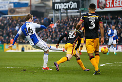 Chris Lines of Bristol Rovers scores a goal to make it 1-0 - Rogan Thomson/JMP - 11/02/2017 - FOOTBALL - Memorial Stadium - Bristol, England - Bristol Rovers v Bradford City - Sky Bet League One.