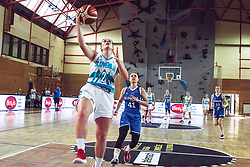 Aleksandra Kroselj of Slovenia vs Barbora Balintova of Slovakia during Women's Basketball - Slovenia vs Slovaska on the 14th of June 2019, Dvorana Poden, Skofja Loka, Slovenia. Photo by Matic Ritonja / Sportida