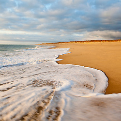 Surf at Coast Guard Beach in the Cape Cod National Seashore in Eastham, Massachusetts.