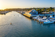 Dana Point Harbor at Sunset