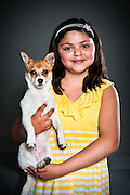 Kayla Perez with Lola, a six-month-old chihuahua mix.
