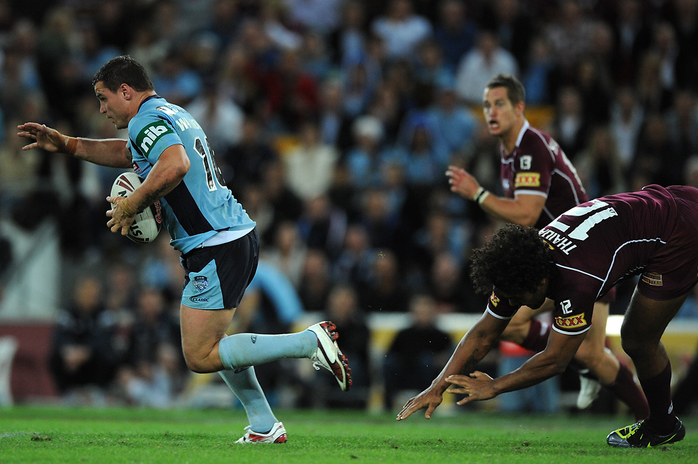 July 6th 2011: Anthony Watmough of the Blues finds space during game 3 of the 2011 State of Origin series at Suncorp Stadium in Brisbane, QLD, Australia on July 6, 2011. Photo by Matt Roberts / mattrimages.com.au / QRL