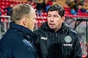 ALKMAAR - 20-02-2016, AZ - FC Groningen, AFAS Stadion, 4-1, AZ trainer John van den Brom, FC Groningen trainer Erwin van der Looi