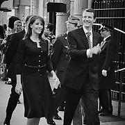 Her ankommer Hans Kongelige Højhed Prins Joachim og HKH Prinsesse Marie.