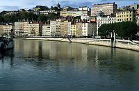 Lyon and the Rhone river   Photo: Peter Llewellyn