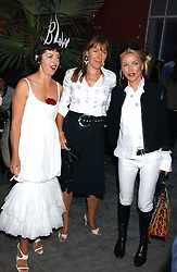 Left to right, ISABELLA BLOW, CHRISTABEL HOLLAND and DAPHNE GUINNESS at the launch of 'Blow Lips' a new lipstick by Isabella Blow and MAC Makeup held at the the Blow de la Barra Gallery, 35 Heddon Street, London on 7th September 2005.<br /><br />NON EXCLUSIVE - WORLD RIGHTS