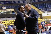 Giorgio Chiellini, Romeo Meo Sacchetti<br /> Nazionale Italiana Maschile Senior - Giorgio Chiellini visita gli Azzurri in Allenamento<br /> FIP 2017<br /> Torino, 23/11/2017<br /> Foto M.Ceretti / Ciamillo-Castoria