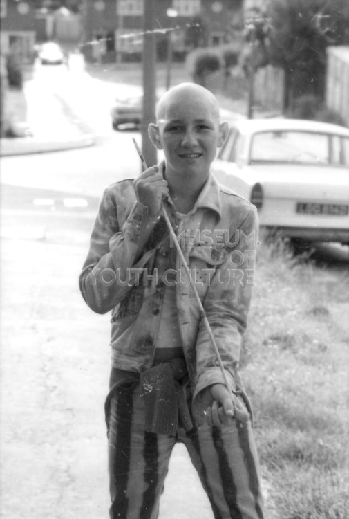 Robert Alcorn with Stick, High Wycombe, UK, 1980s.