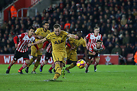 Football - 2016 / 2017 Premier League - Southampton vs. Tottenham Hotspur<br /> <br /> Harry Kane of Tottenham Hotspur blazes his penalty over the bar at St Mary's Stadium Southampton England<br /> <br /> COLORSPORT/SHAUN BOGGUST
