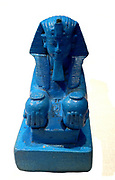 Sphinx in Faience representing Amenhotep III circa 1390-1352 BC.