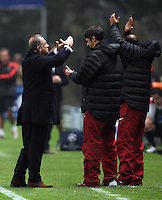 UEFA Champions league group H football match between  Braga v Galatasaray at Municipal (AXA)Stadium in Braga, Portugal 05.12.2012.Match Scored: Braga 1 - Galatasaray 2.Pictured: Coach Fatih Terim of Galatasaray.