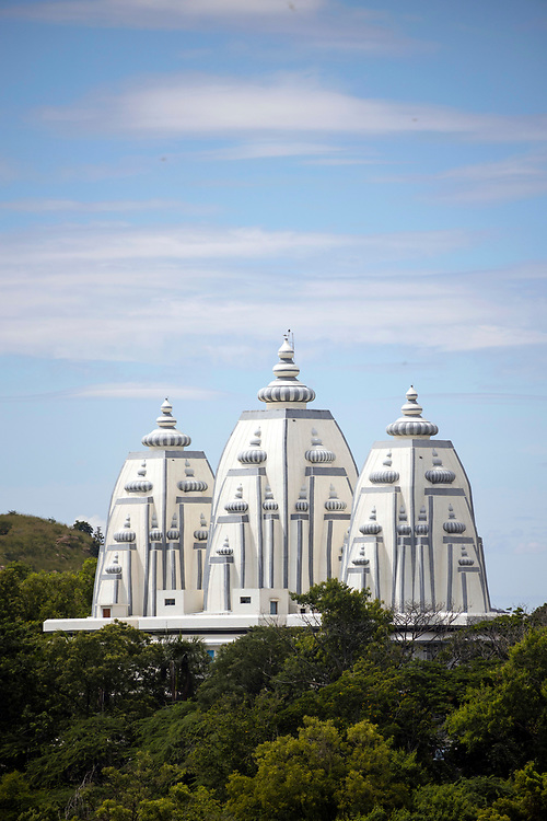 PUTTARPATHI, INDIA - 01st November 2019 - Landscape of Spiritual Museum at the Sathya Sai Baba University Institute of Higher Learning, Puttarpathi, Andhra Pradesh, South India.