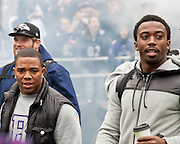 Baltimore Ravens running back Ray Rice and quarterback Tyrod Taylor at the teams Super Bowl XLVII Celebration at M&T Bank Stadium on Tuesday, February 5, 2013 in Baltimore, MD.