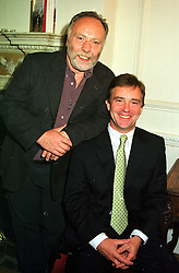 Left to right, former Beirut hostages BRIAN KEENAN and JOHN McCARTHY at a party in London on 8th September 1999.MUZ 6