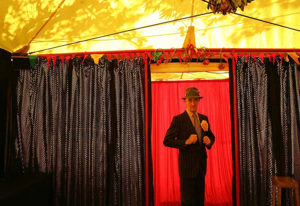 Tony at The Tiny Top Tent, Sydney Easter Show, 2007.