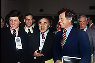Bill Clinton, Stuart Eisenstat, Joseph Califano, and Ted Kennedy at a Democratic Conference in Memphis,TN in December 1978<br /> <br /> by Dennis Brack