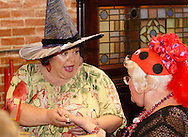 "Sue Judin (left) during Mayhem & Mystery's production of ""Costume Carousing"" at the Spaghetti Warehouse in downtown Dayton, Monday, September 12, 2011."