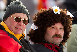 German fans during the Mixed 2x6 + 2x7,5km relay of the e.on IBU Biathlon World Cup on Saturday, December 19, 2010 in Pokljuka, Slovenia. The fourth e.on IBU World Cup stage is taking place in Rudno polje - Pokljuka, Slovenia until Sunday December 19, 2010. (Photo By Vid Ponikvar / Sportida.com)
