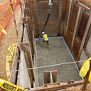 Concrete pour at Prince Georges County Dept of Corrections. PG County, MD.
