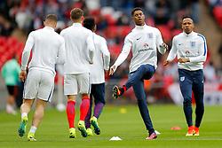 Marcus Rashford of England warms up - Mandatory byline: Rogan Thomson/JMP - 02/06/2016 - FOOTBALL - Wembley Stadium - London, England - England v Portugal - International Friendly.