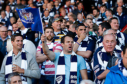 Bristol Rugby fans - Photo mandatory by-line: Rogan Thomson/JMP - 07966 386802 - 20/05/2015 - SPORT - Rugby Union - Bristol, England - Ashton Gate Stadium - Bristol Rugby v Worcester Warriors - Greene King IPA Championship Play-Off Final 1st Leg.