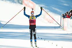MAKARAINEN Kaisa (FIN) celebrates after placed second during Women 10 km Pursuit at day 3 of IBU Biathlon World Cup 2014/2015 Pokljuka, on December 20, 2014 in Rudno polje, Pokljuka, Slovenia. Photo by Vid Ponikvar / Sportida