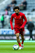 Mohamed Salah (#11) of Liverpool ahead of the Premier League match between Newcastle United and Liverpool at St. James's Park, Newcastle, England on 4 May 2019.