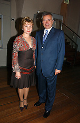 MADAME ELENA GAGARINA General Director of the Museums of the Moscow Kremlin and VAGIT ALEKPEROV President of Lukoil at 'Britannia & Muscovy English Silver at The Court of The Tsars' exhibition opening at the Gilbert Collection, Somerset House, London on 20th October 2006<br /><br />NON EXCLUSIVE - WORLD RIGHTS