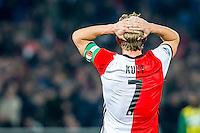 ROTTERDAM - Feyenoord - ADO Den Haag , Voetbal , KNVB Beker , Seizoen 2016/2017 , De Kuip , 14-12-2016 , Feyenoord speler Dirk Kuyt baalt na gemiste kans
