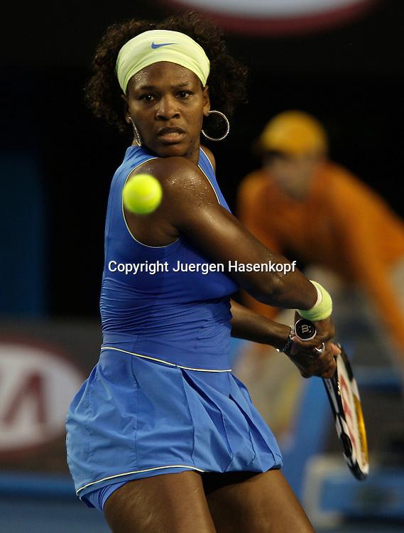 Australien, Melbourne, Sport, Tennis, Grand Slam Tournament, Melbourne Park, Australian Open 2009,..Damen Finale, Endspiel, Serena Williams (USA)...Foto: Juergen Hasenkopf..