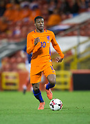 9th November 2017, Pittodrie Stadium, Aberdeen, Scotland; International Football Friendly, Scotland versus Netherlands; Holland's Georginio Wijnaldum