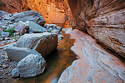 A small stream flows through National Canyon. Grand Canyon National Park in Arizona.