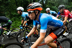 Andi Bajc (SLO) of Team Felbermayr Simplon Wels, Kristjan Hocevar (SLO) of Slovenia during 4th Stage of 26th Tour of Slovenia 2019 cycling race between Nova Gorica and Ajdovscina (153,9 km), on June 22, 2019 in Slovenia. Photo by Vid Ponikvar / Sportida