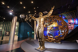 Photo taken on April 7, 2016 shows the statue of astronaut and sputnik at the Museum of Cosmonautics in Moscow, Russia. The Museum of Cosmonautics opens its doors to public on April 10th, 1981, 20th Anniversary of the first manned space flight. Museum exposition gives a retrospect on how space science evolved starting from first man-made satellites subsequently followed by the first manned space flight, first space walks, Moon exploration programs, Solar system exploration programs and international space research programs. EXPA Pictures © 2016, PhotoCredit: EXPA/ Photoshot/ Bai Xueqi<br /> <br /> *****ATTENTION - for AUT, SLO, CRO, SRB, BIH, MAZ, SUI only*****