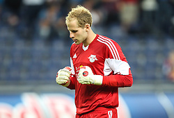 22.08.2013, Red Bull Arena, Salzburg, AUT, UEFA EL Play Off, FC Red Bull Salzburg vs VMFD Zalgiris, Hinspiel, im Bild Peter Gulacsi, (FC Red Bull Salzburg, #31) // during UEFA Europa League Qualification 1st Leg Match between FC Red Bull Salzburg and VMFD Zalgiris at the Red Bull Arena, Salzburg, Austria on 2013/08/22. EXPA Pictures © 2013, PhotoCredit: EXPA/ Roland Hackl