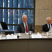 NLD/Den Haag/20070412 - Visit of Mr. Hans-Gert Pöttering, president of the European parliament to The Hague, Joint meeting Europe committee of the House of Representatives on European Cooperation Organisations of the Senate..NLD/Den Haag/20070412 - President Europees Parlement Hans-Gert Pöttering bezoekt Den Haag, ontmoeting met Europeese commitee van de gecombineerde eerste en tweede kamer.  ** foto + verplichte naamsvermelding Brunopress/Edwin Janssen  **