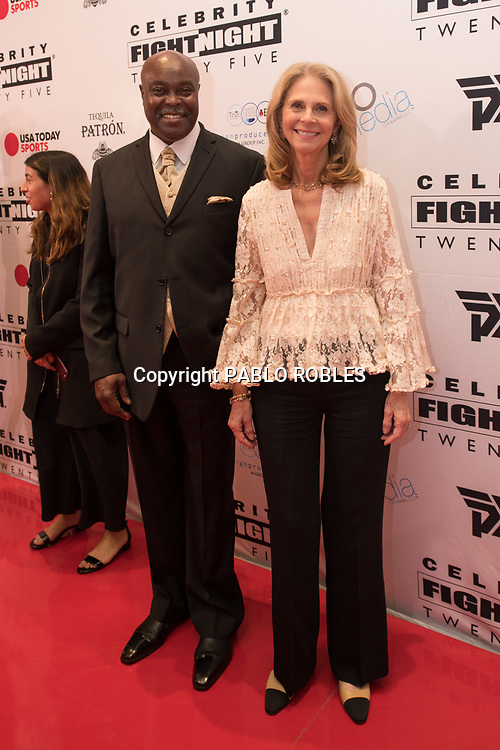 Lindsay Wagner and guest attend the Celebrity Fight Night event on March 23, 2019 in Scottsdale, AZ.