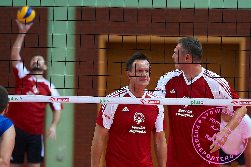 during of The Special Olympics Unified Volleyball Tournament at Ursynow Arena in Warsaw on August 29, 2014.<br /> <br /> Poland, Warsaw, August 29, 2014<br /> <br /> For editorial use only. Any commercial or promotional use requires permission.<br /> <br /> Mandatory credit:<br /> Photo by &copy; Adam Nurkiewicz / Mediasport