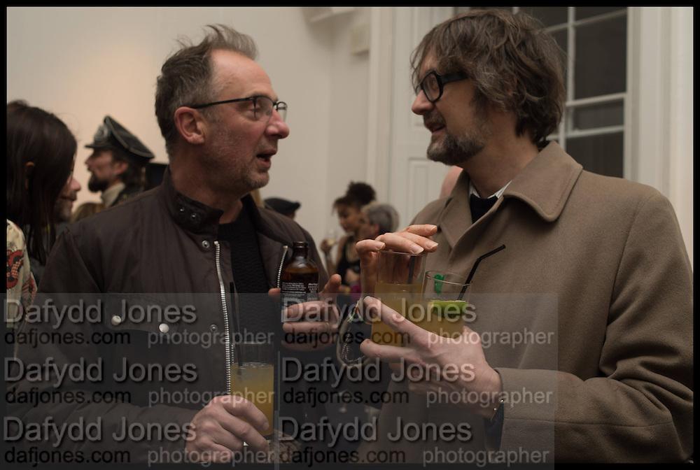 GARY HUME; JARVIS COCKER, Private view, Paul Simonon- Wot no Bike, ICA Nash and Brandon Rooms, London. 20 January 2015