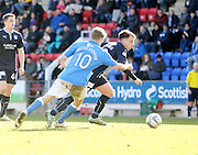 Dundee's Paul McGowan goes past St Johnstone's David Wotherspoon - St Johnstone v Dundee, SPFL Premiership at McDiarmid Park<br /> <br />  - &copy; David Young - www.davidyoungphoto.co.uk - email: davidyoungphoto@gmail.com