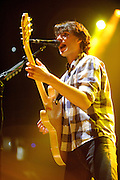 Vampire Weekend performing at the Chaifetz Arena on October 3, 2010
