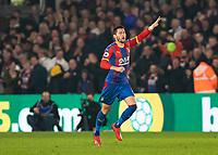 Football - 2018 / 2019 Premier League - Crystal Palace vs. Manchester United<br /> <br /> Joel Ward (Crystal Palace) celebrates after scoring at Selhurst Park.<br /> <br /> COLORSPORT/DANIEL BEARHAM