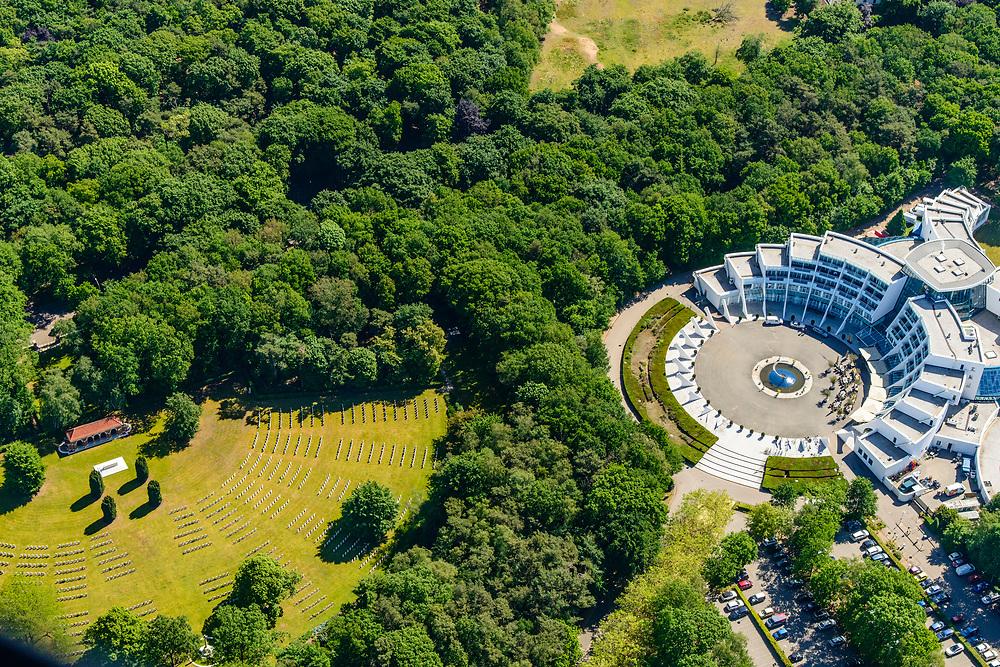Nederland, Gelderland, Gemeente Arnhem, 29-05-2019; Goffert, Sanadome Hotel & Spa, 'Wellness hotel' met eigen thermen (thermisch baden).<br /> Sanadome Hotel & Spa, 'Wellnesshotel' with its own thermal baths.<br /> <br /> luchtfoto (toeslag op standard tarieven);<br /> aerial photo (additional fee required);<br /> copyright foto/photo Siebe Swart